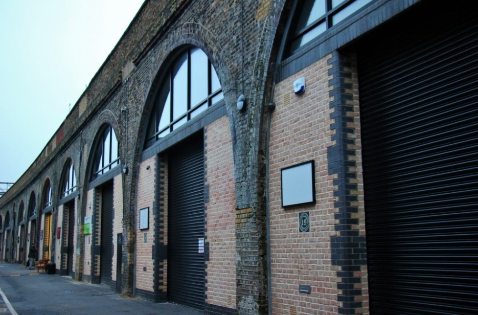Brick railway arches on Bermondsey Beer Mile, London Craft Beer Crawl