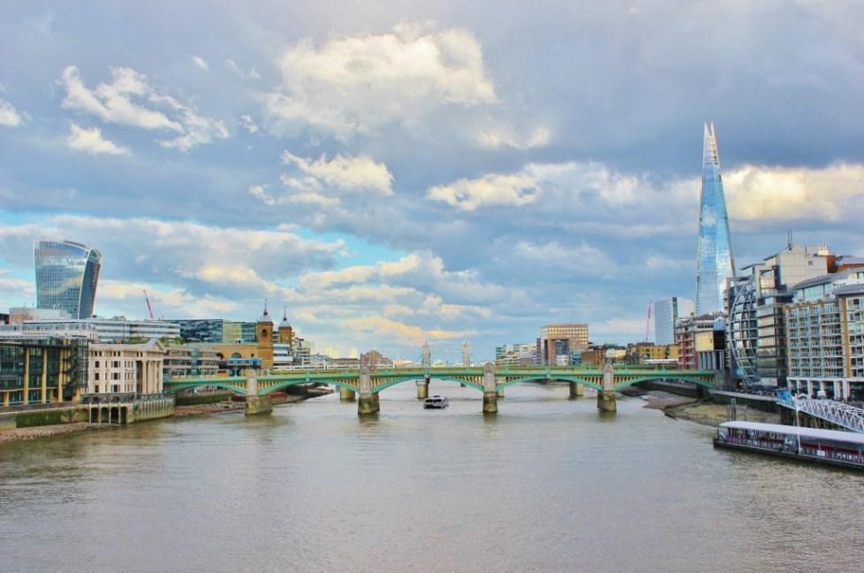 River Thames and city skyline, London, England, jetsettingfools.com
