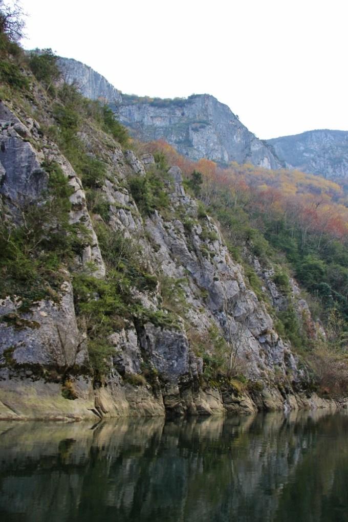 Treska River in Matka Canyon, Skopje, Macedonia
