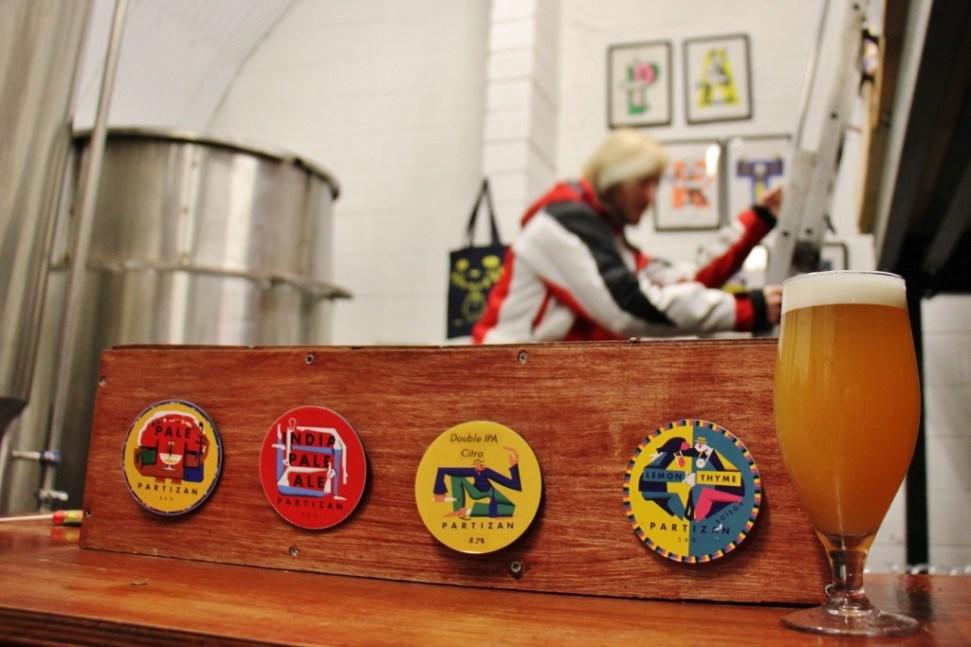 Beers on tap at Partizan Taproom, Bermondsey Beer Mile, London Craft Beer Crawl
