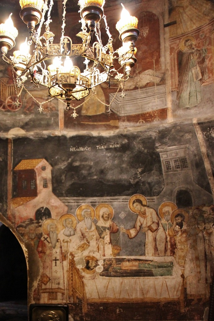 Side altar at St. Naum Monastery, Lake Ohrid, Macedonia