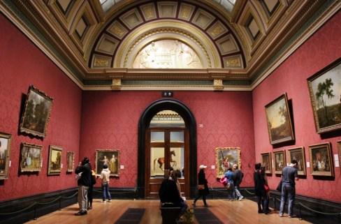 Painting in the National Gallery, London, England, jetsettingfools.com