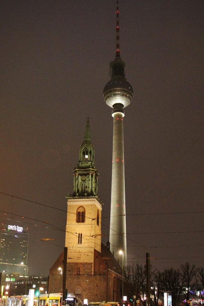 TV Tower Berliner Fernsehturm on Alexanderplatz in Berlin, Germany