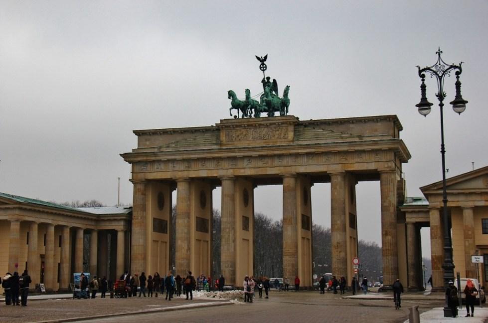 The Brandenburg Gate on Pariser Platz in Berlin, Germany