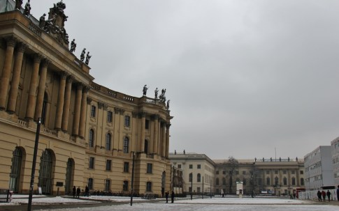 Humbolt University on Bebelplatz Square in Berlin, Germany