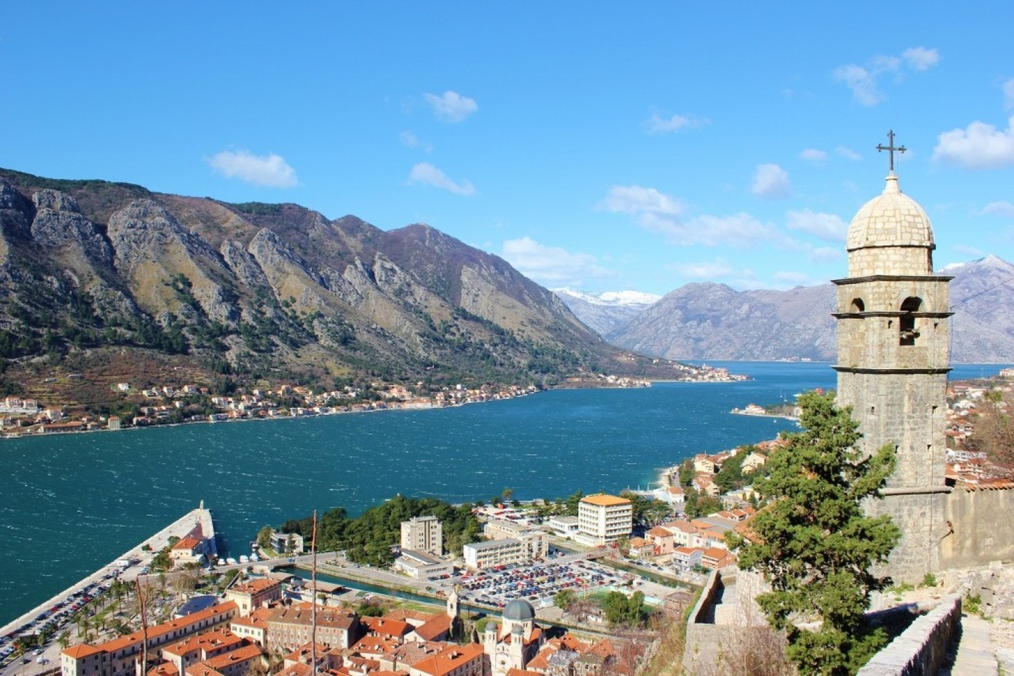 Church of Our Lady of Remedy and Bay of Kotor, Kotor, Montenegro
