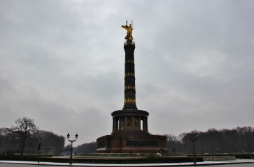 The Victory Column, Siegessaule, at Tiergarten Park in Berlin, Germany