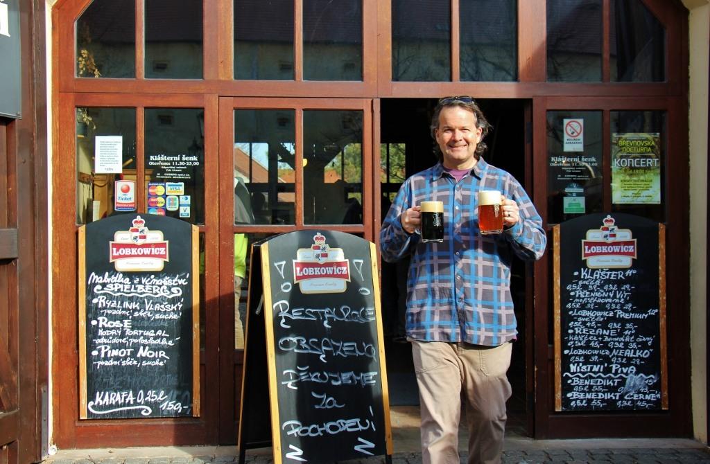 Beers at Brevnov Monastery Brewery, Prague, Czech Republic