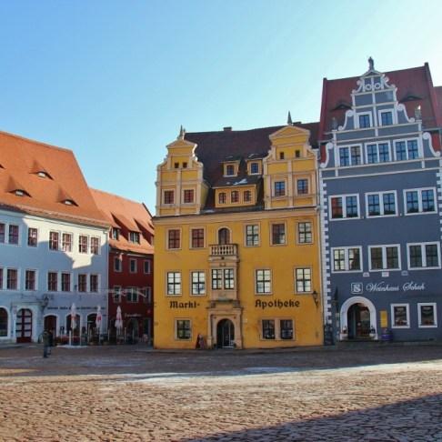 Markt Square in Meissen near Dresden, Germany