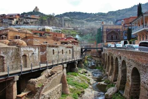 Abanotubani Bathhouse district, Tbilisi, Georgia