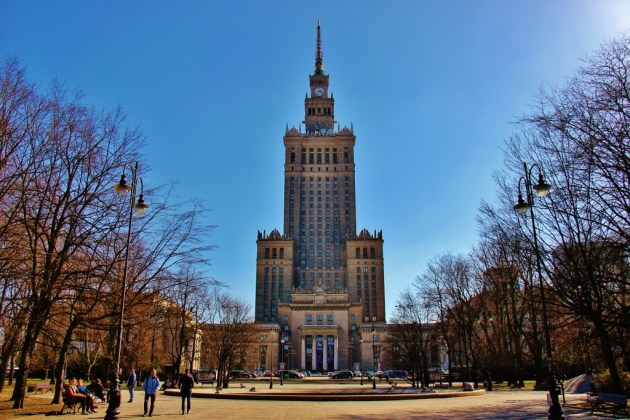 The Palace of Culture and Science in Warsaw, Poland