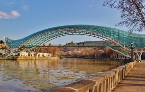 Pedestrian Peace Bridge in Tbilisi, Georgia