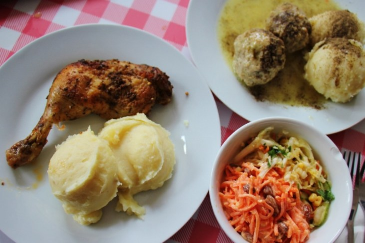 Meals at Prasowy Milk Bar in Warsaw, Poland
