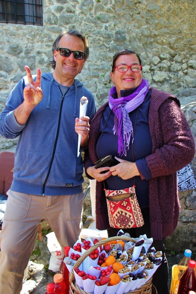Street vendor selling fruits in Pocitelj near Mostar, Bosnia-Herzegovina