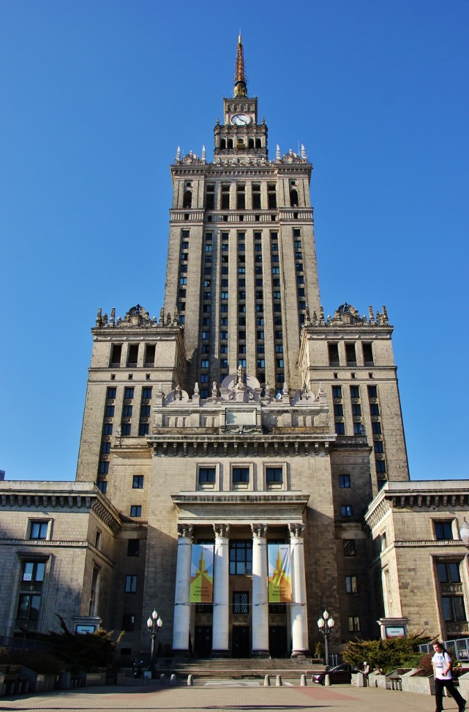 Art-deco Palace of Culture and Science in Warsaw, Poland