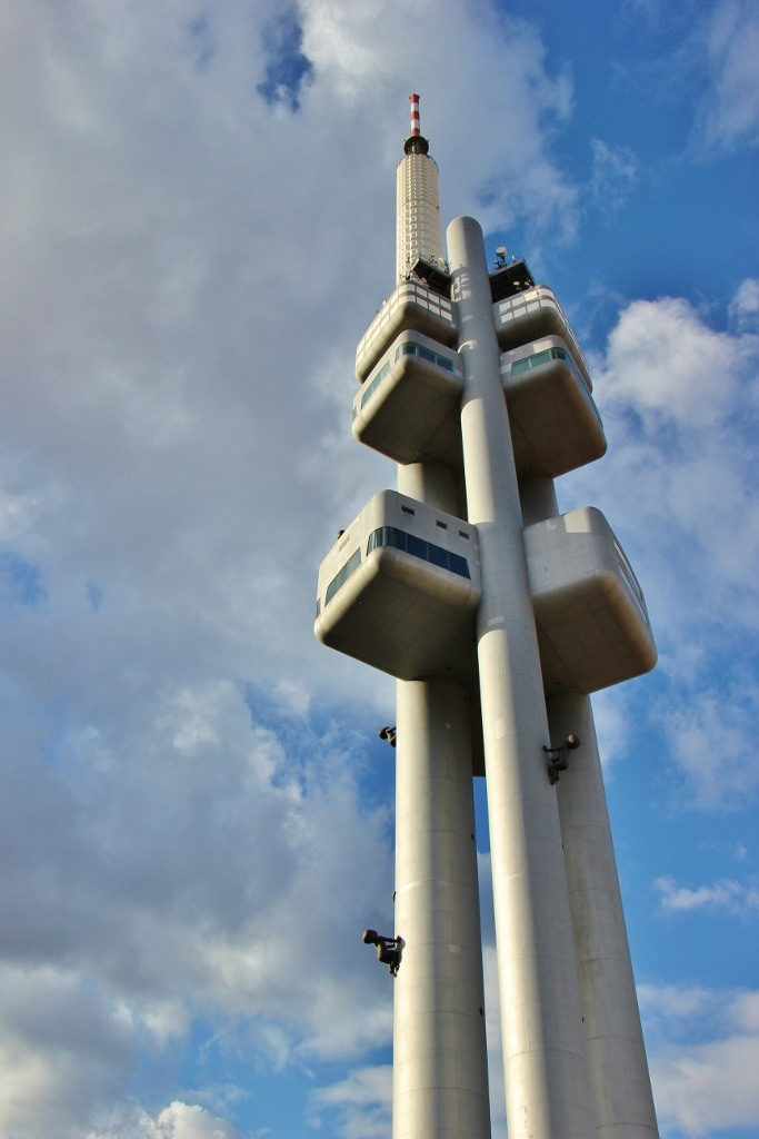 Tower Park Praha, Zizkov TV Tower with crawling babies, Prague, Czech Republic, JetSettingFools.com