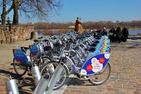 Veturilo Bike Rack in Warsaw, Poland