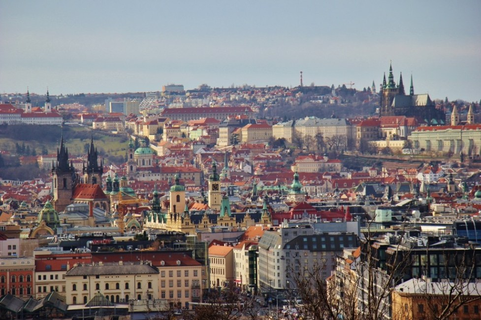 City View from National Monument on Vitkov Hill, Prague, Czech Republic, JetSettingFools.com