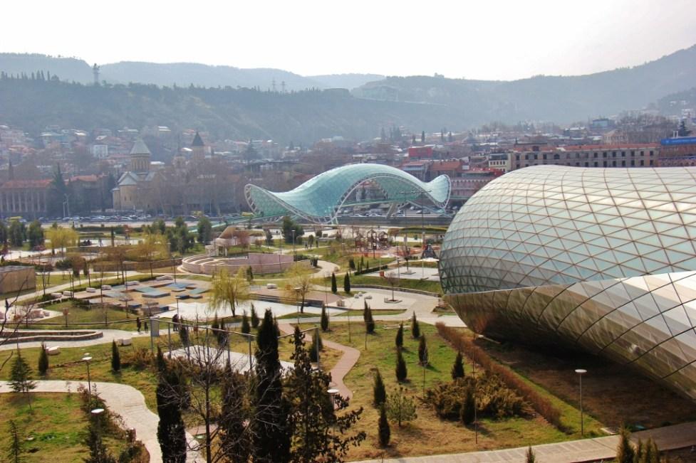Rike Park and Peace Bridge, Tbilisi, Georgia