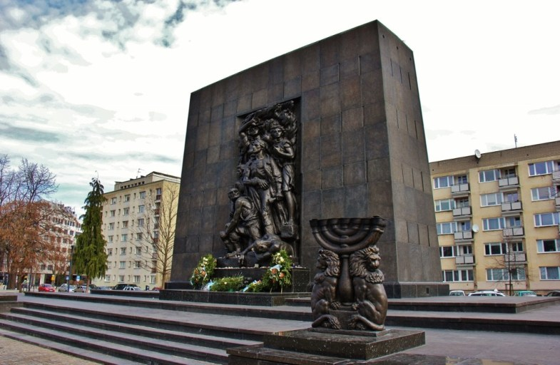 Monument to the Warsaw Ghetto Uprising of 1943 Monument, Warsaw, Poland
