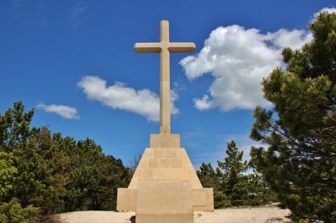 Brac Stone Cross at Vidova Gora Summit, Bol, Brac, Croatia