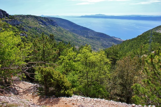 Hiking Trail to Vidova Gora summit on on Brac, Croatia