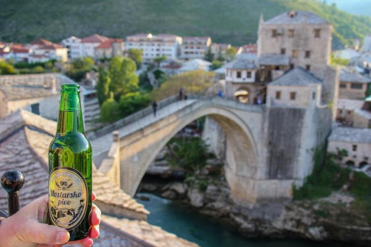 Sunset Drink, Mostar, Bosnia