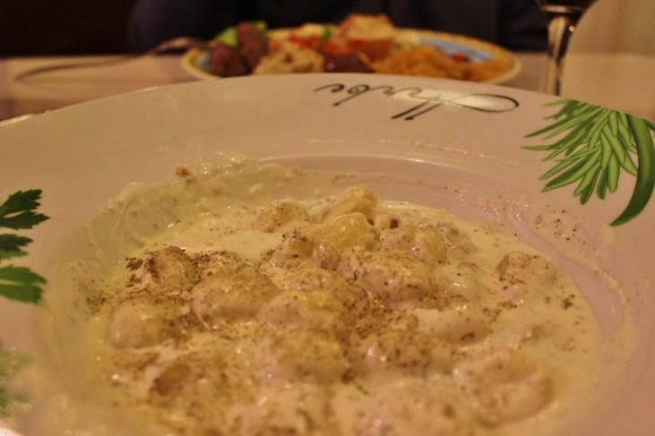 Dalmatian pasta dish at Trattoria Bajamont in Split, Croatia