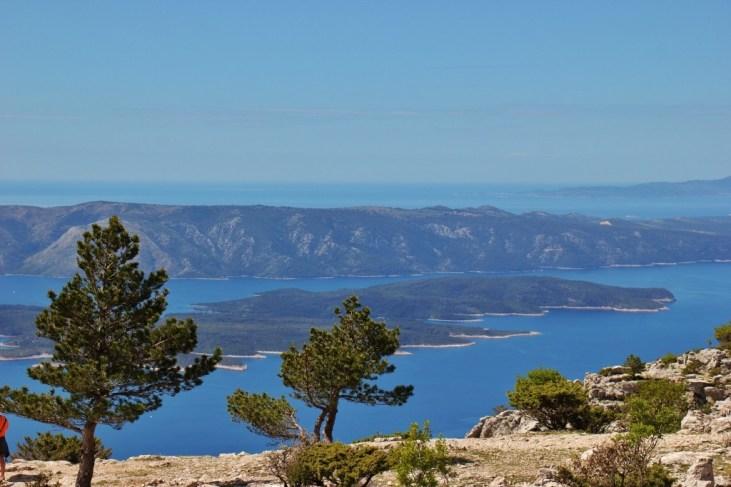Views from Vidova Gora peak on on Brac, Croatia