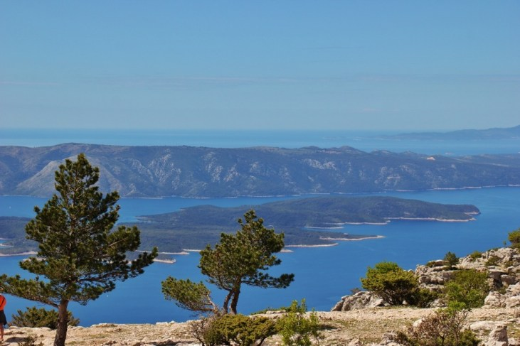 Views from Vidova Gora peak on on Brac, Croatia