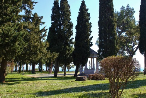 Gazebo in Sustipan Park in Split, Croatia