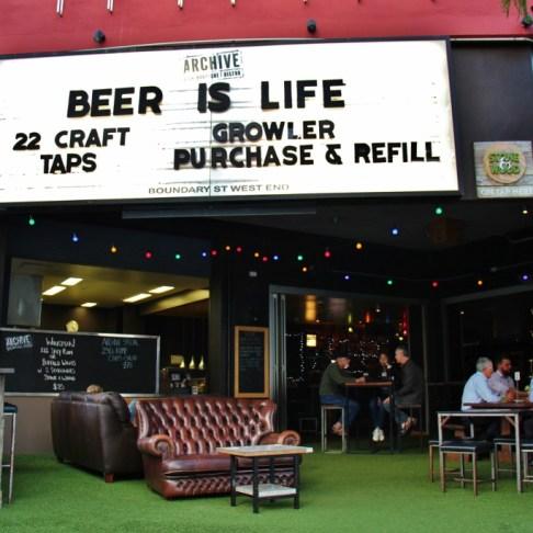 The Archive Beer Boutique Craft Beer Bar in West End, Brisbane, Australia