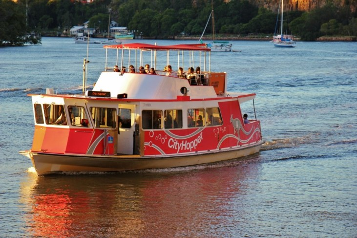 City Hopper Free Ferry Boat in Brisbane, Australia