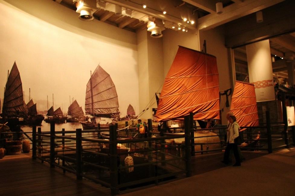 Traditional boat display at Hong Kong Museum of History