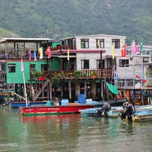 Stilt Houses in Tai O fishing village on Lantau Island, Hong Kong