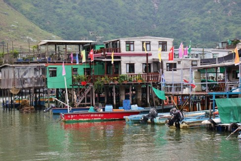 Stilt Houses in Tai O fishing village on Lantau Island, Hong Kong