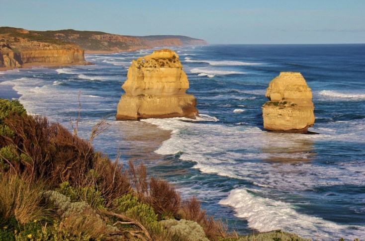 Two rock formations, 12 Apostles, Great Ocean Road, Australia, JetSettingFools.com