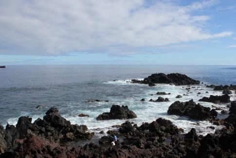 Easter Island rocky coastline and waves, JetSettingFools.com