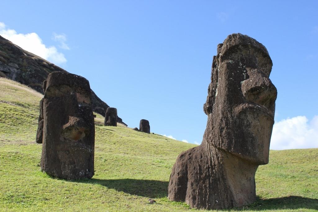 Moai at Rano Raraku on Easter Island, JetSettingFools.com