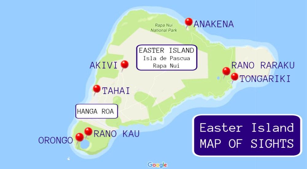 Easter Island map of sights JetSettingFools.com