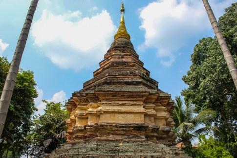 Brick Chedi in Chiang Mai, Thailand