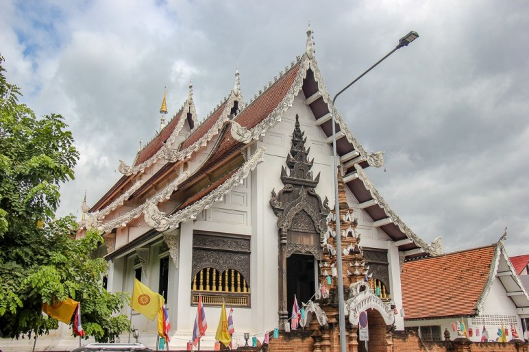 Front of Wat Ched Lin in Chiang Mai, Thailand