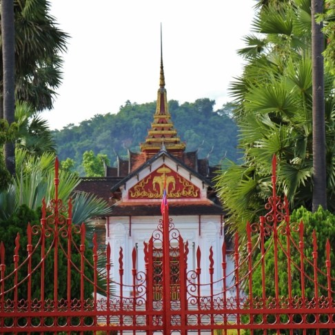 Red Gates at Royal Palace in Luang Prabang, Laos