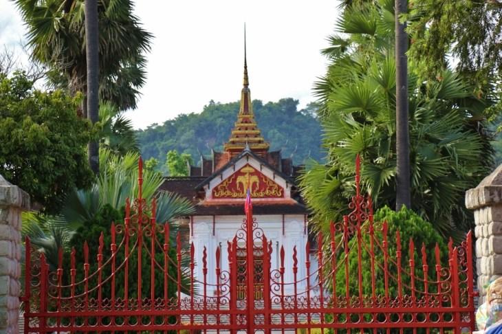 Red Gates at Royal Palace in Luang Prabang, Laos