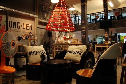 Hostel cafe and bar in Chiang Rai, Thailand