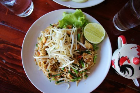 Plate of Pad Thai in Chiang Rai, Thailand
