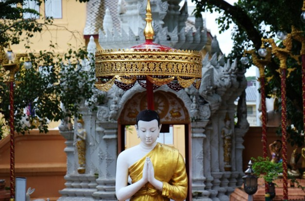 Statue at Wat Phra Singh in Chiang Rai, Thailand