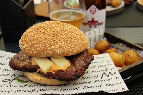 BURGERday Cheeseburger at Bistro Marof in Novo Mesto, Slovenia
