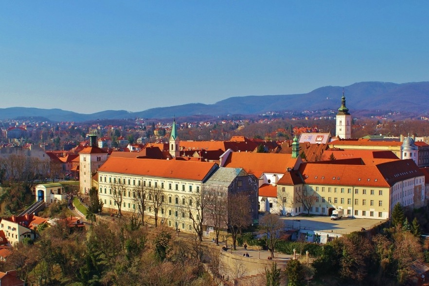Upper Town of Gradec in Zagreb, Croatia
