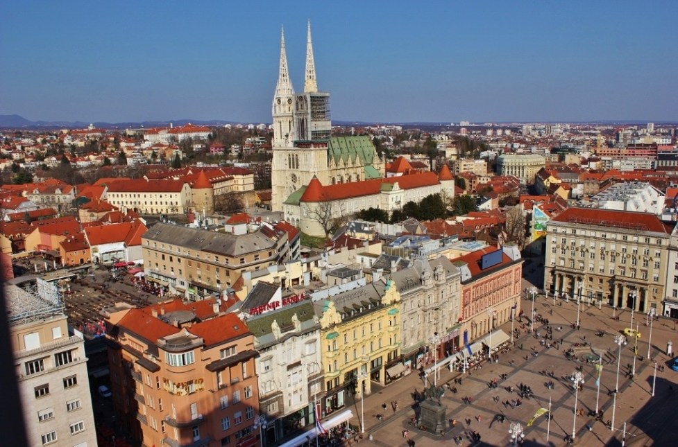 View of city from Zagreb 360 in Zagreb, Croatia